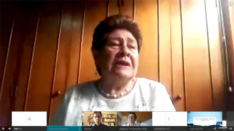 UN-Ausschuss gegen das Verschwindenlassen erstmals von einem Opfer des gewaltsamen Verschwindenlassens eröffnet